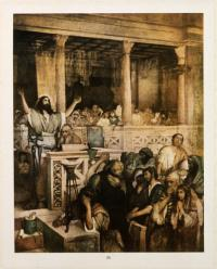 "Jesus in the Temple. Aus der Mappe ""Maurycy Gottlieb 1856-1879"""