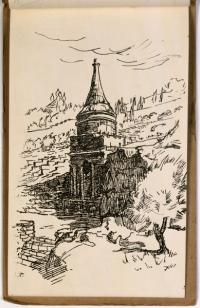 Tomb of Absalom. Aus dem Skizzenbuch: The Old Jerusalem