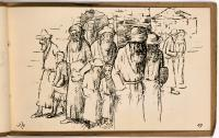Jews leaving Synagogue. Aus dem Skizzenbuch: The Old Jerusalem