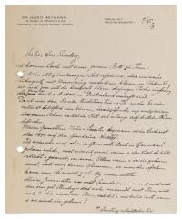 Brief von Hugo Heymann an Julius Sternberg (1879-1971)