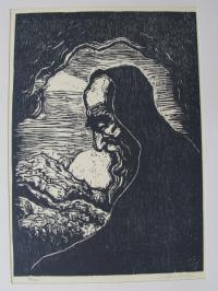 "Moses auf dem Berg Nebo. Aus der Mappe ""Biblical Woodcuts"""