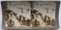 """Jerusalem through the Stereoscope"": Der Klageplatz der Juden, äußere Mauer von Salomons Tempel, Jerusalem, Palästina"