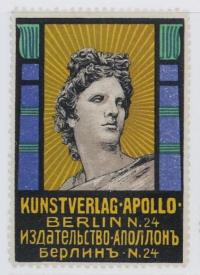Reklamemarke des Kunstverlags Apollo